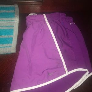 purple dri-fit nike shorts